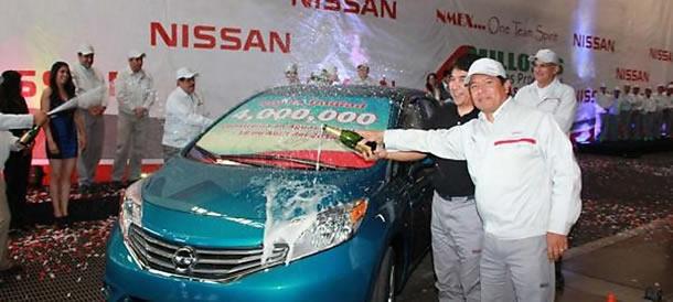 Nissan Mexico celebra la producción del automóvil número 4 millones